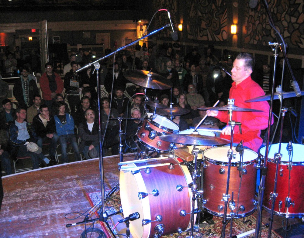 A photo of Daniel Glass performing at the 2011 Drum Fair