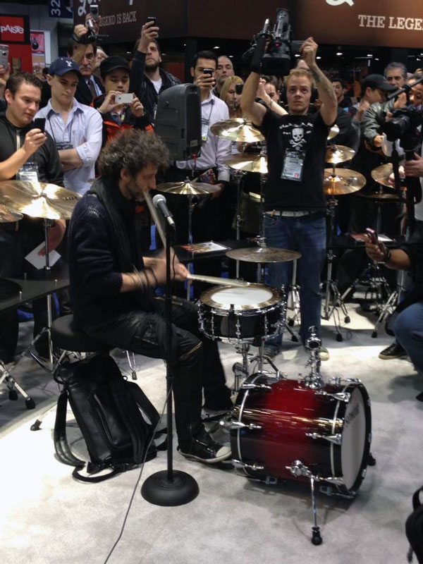 Jojo Mayer at Sabian Booth NAMM 2013