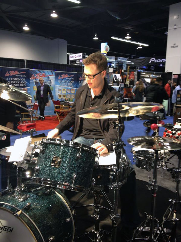 Photo of Stanton Moore at NAMM 2013