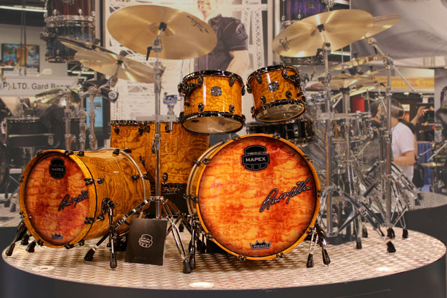 Photo of Mapex Saturn IV MH Drum Set at NAMM 2013