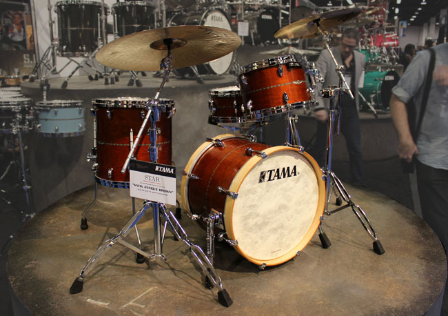 Tama STAR Drum Set in Satin Antique Brown, NAMM 2013