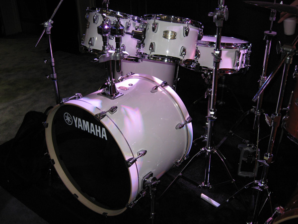 The newly redesigned Yamaha Stage Custom in new Pure White finish